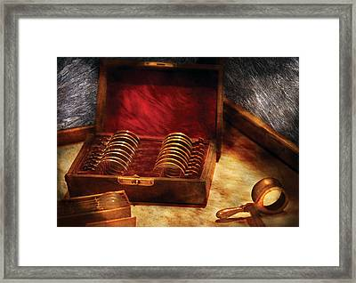 Optician - A Box Of Occulars  Framed Print by Mike Savad