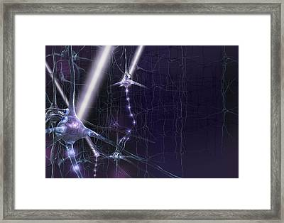 Optogenetics, Conceptual Artwork Framed Print by Science Photo Library