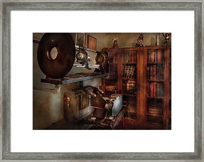 Optometrist - The Lens Apparatus Framed Print by Mike Savad