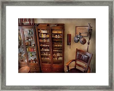 Optometrist - The Optometrists Office Framed Print by Mike Savad