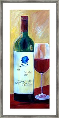 Opus One  Framed Print by Sheri  Chakamian