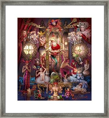 Oracle Of Visions Party Hr Framed Print by Ciro Marchetti