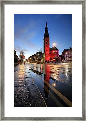 Oran Mor Reflection Framed Print by Grant Glendinning
