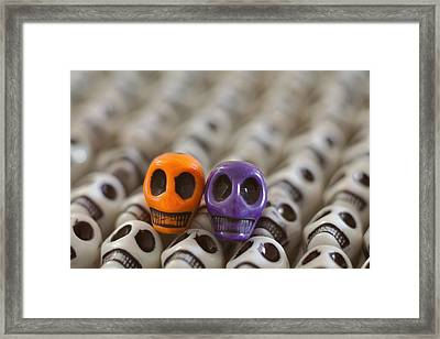 Orange And Purple Framed Print by Mike Herdering