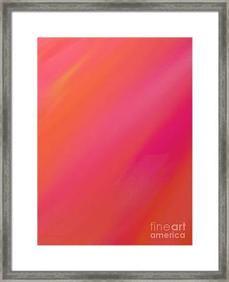Orange And Raspberry Sorbet Abstract 1 Framed Print by Andee Design