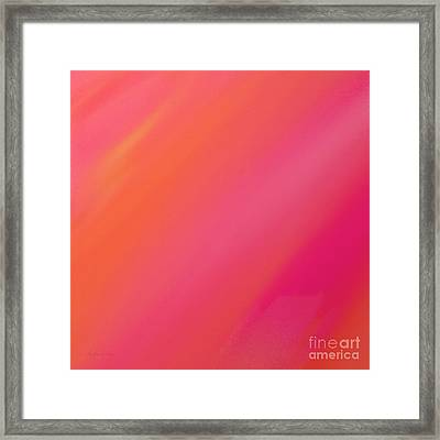 Orange And Raspberry Sorbet Abstract 2 Framed Print by Andee Design