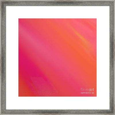 Orange And Raspberry Sorbet Abstract 3 Framed Print by Andee Design