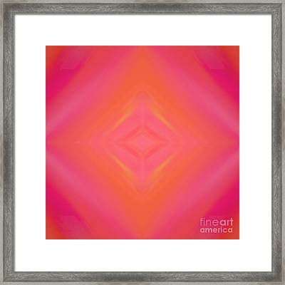 Orange And Raspberry Sorbet Abstract 4 Framed Print by Andee Design