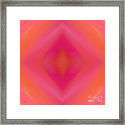 Orange And Raspberry Sorbet Abstract 5 Framed Print by Andee Design