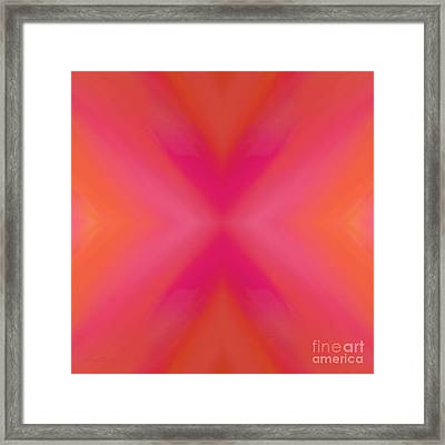 Orange And Raspberry Sorbet Abstract 6 Framed Print by Andee Design