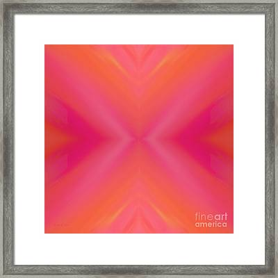 Orange And Raspberry Sorbet Abstract 7 Framed Print by Andee Design