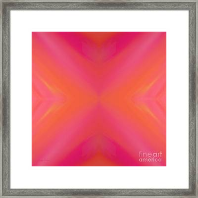 Orange And Raspberry Sorbet Abstract 8 Framed Print by Andee Design