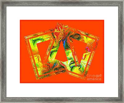 Orange And Yellow Art Framed Print by Mario Perez