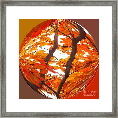Orange Art Deco Framed Print by Scott Cameron