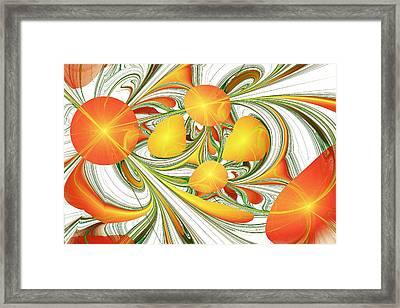Orange Attitude Framed Print by Anastasiya Malakhova