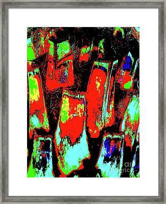 Orange Bark 0001 7 Framed Print by Nina Kaye