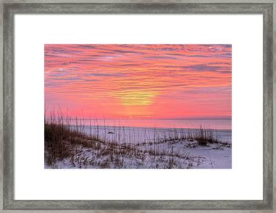 Orange Beach Sunrise Framed Print by JC Findley