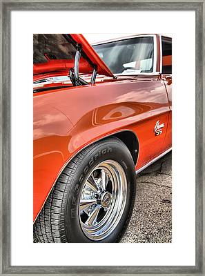Orange Chevelle Ss 396 Framed Print by Dan Sproul