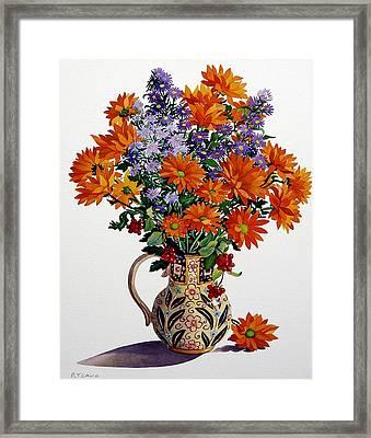 Orange Chrysanthemums Framed Print by Christopher Ryland