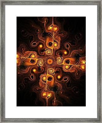 Orange Cross Framed Print by Anastasiya Malakhova