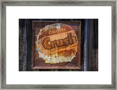 Orange Crush Sign Framed Print by Garry Gay