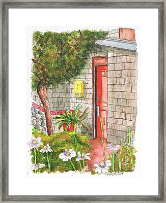 Orange Door In Laguna Beach - California Framed Print by Carlos G Groppa