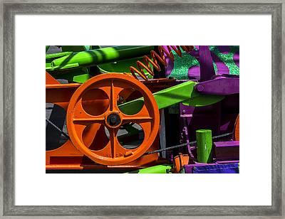Orange Gear Framed Print by Garry Gay