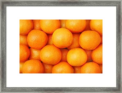 Orange Geometry Framed Print by Jim Hughes