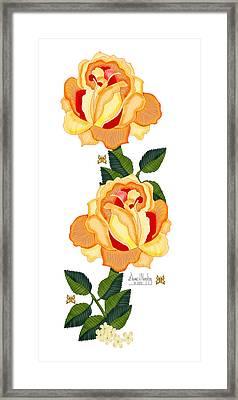 Orange Glow Framed Print by Anne Norskog