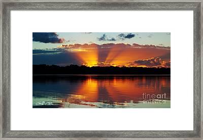 Orange Gods - Sunrise Panorama Framed Print by Geoff Childs