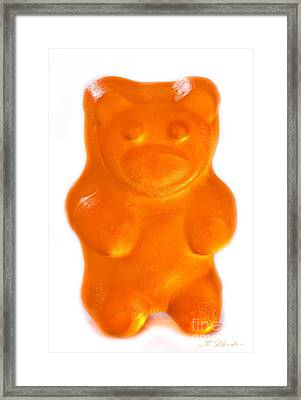 Orange Gummy Bear Framed Print by Iris Richardson