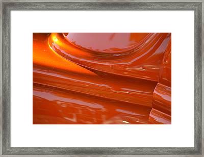 Orange Hotrod Framed Print by Dean Ferreira