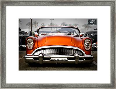 Orange In The Mist Framed Print by Michael Kerckaert