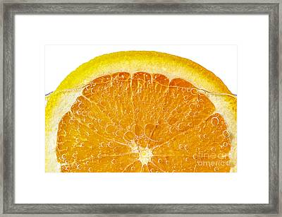 Orange In Water Framed Print by Elena Elisseeva