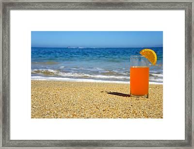 Orange Juice Framed Print by Aged Pixel