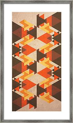 Orange Maze Framed Print by VessDSign
