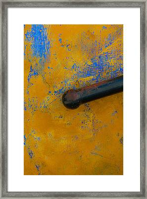 Orange On Blue Framed Print by Edgar Laureano