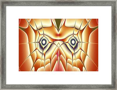 Orange Owl Framed Print by Anastasiya Malakhova