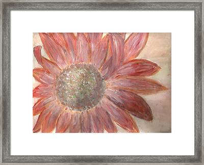 Orange Petals Framed Print by Corina  Lupascu