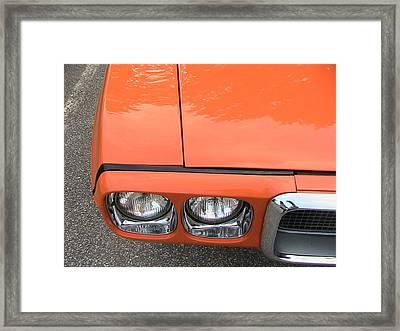 Orange Pontiac Framed Print by Nancy Aikins