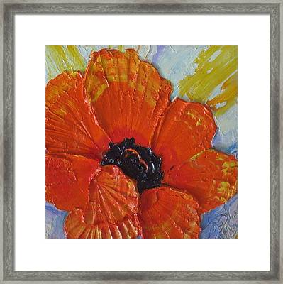 Orange Poppy Framed Print by Paris Wyatt Llanso