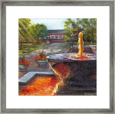 Orange Proud At Osu Framed Print by Linda Dunbar