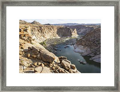 Orange River Gorge, South Africa Framed Print by Science Photo Library