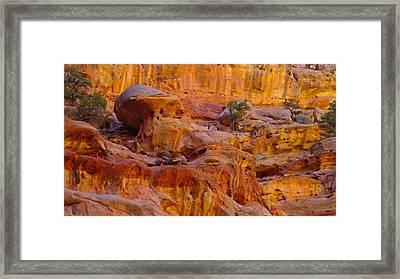 Orange Rock Formation Framed Print by Jeff Swan
