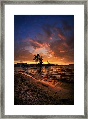 Orange Sandy Beaches Framed Print by Sean Foster