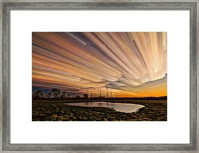 Orange Sky Framed Print by Matt Molloy