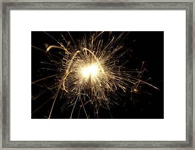 Orange Sparkle Framed Print by Samuel Whitton