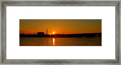 Orange Sunrise Over Dc Framed Print by Metro DC Photography