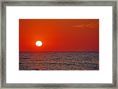 Orange Sunset Framed Print by Aimee L Maher Photography and Art Visit ALMGallerydotcom