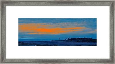 Orange Sunset Framed Print by Ben and Raisa Gertsberg